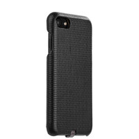 Черный кожаный чехол накладка i-Carer для iPhone 8 Woven Pattern Series Real Leather Charging Connector Black