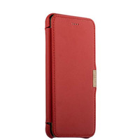 Красный кожаный чехол для iPhone 8 Plus — i-Carer luxury Series Side-open Red