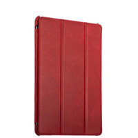 Красный кожаный чехол для iPad 2017 / 2018 9.7 - i-Carer Ultra-thin Genuine Leather Series Red
