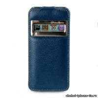Кожаный чехол Melkco для iPhone 5s / SE / 5 Dark Blue ID (Jacka Type)