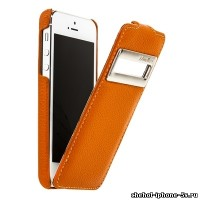 Кожаный чехол Melkco для iPhone 5s / SE / 5 Orange ID (Jacka Type)