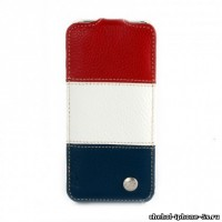 Кожаный чехол Melkco для iPhone 5s / SE / 5 Red/White/Blue LC (Jacka Type)