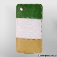 Кожаный чехол Melkco для iPhone 5s / SE / 5 Yellow/White/Green LC (Jacka Type)