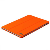 Оранжевый кожаный чехол для iPad 2017 9.7 - i-Carer Ultra-thin Genuine Leather Series Orange