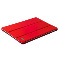 Красный кожаный чехол для iPad 2017 9.7 - i-Carer Ultra-thin Genuine Leather Series Red
